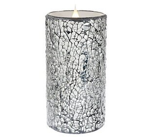 Crackled Mosaic Unscented Flameless Candle