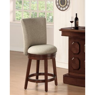 Davila Upholstered Counter Height 24 Swivel Bar Stool