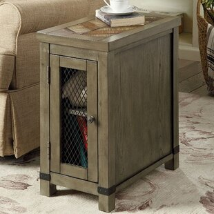 Zilla Rustic End Table with Storage