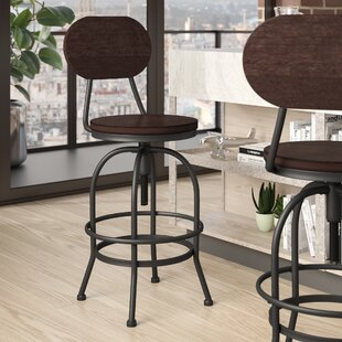 Nona Adjustable Height Swivel Bar Stool 17 Stories
