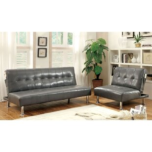 Bulle Sleeper 2 Piece Leather Living Room Set By A&J Homes Studio