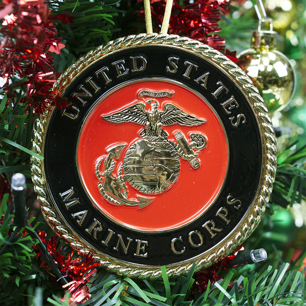 The Holiday Aisle Marine Corps Holiday Ornament Hanging Figurine Reviews Wayfair