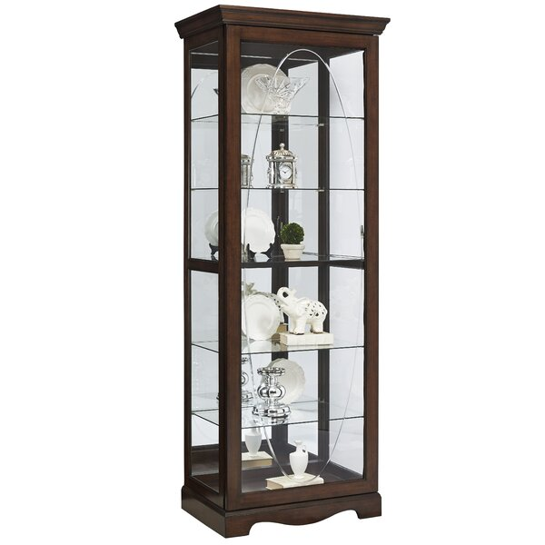 Darby Home Co Blake Etched Lighted Curio Cabinet Reviews