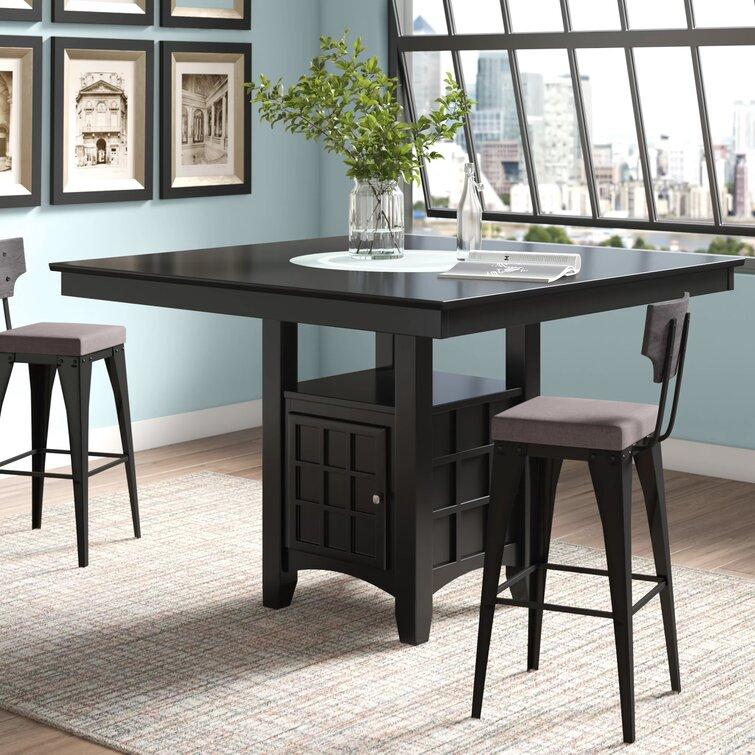 Millwood Pines Landgraf Counter Height Pedestal Dining Table Reviews Wayfair