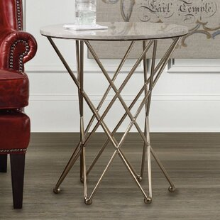 Highland Park End Table with Marble Top