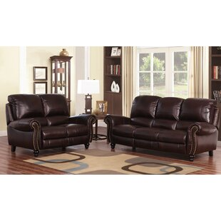 Tanguay Reclining 2 Piece Leather Living Room Set