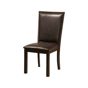 Lapp Rubberwood Faux Leather Upholstered Dining Chair (Set Of 2) by Alcott Hill 2019 Sale
