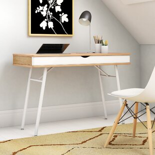 Reviews Writing Desk with Cord Management By Mercury Row