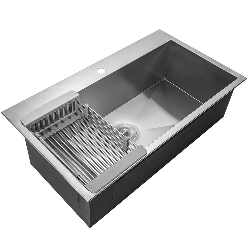 Akdy 33 x 22 drop in kitchen sink with adjustable tray and drain 33 x 22 drop in kitchen sink with adjustable tray and drain strainer workwithnaturefo