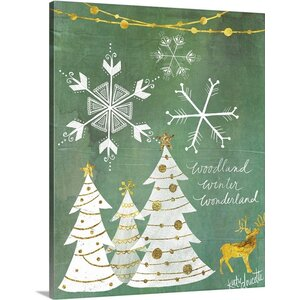 Woodland Winter Wonderland by Katie Doucette Graphic Art on Wrapped Canvas