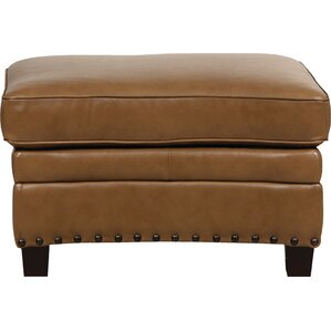 Hubbard Leather Ottoman by Darby Home Co