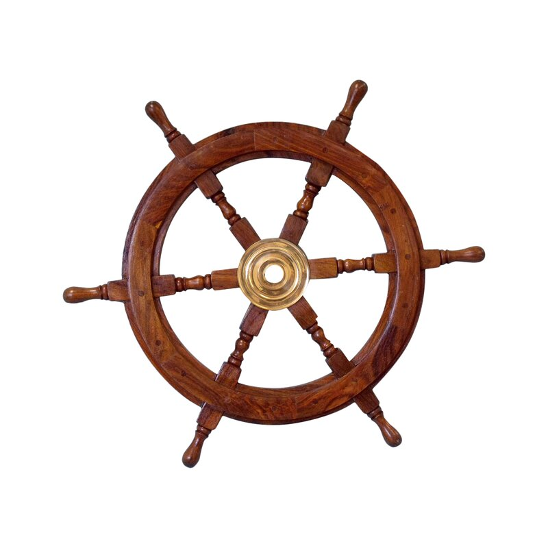 Br Wood Ship Wheel