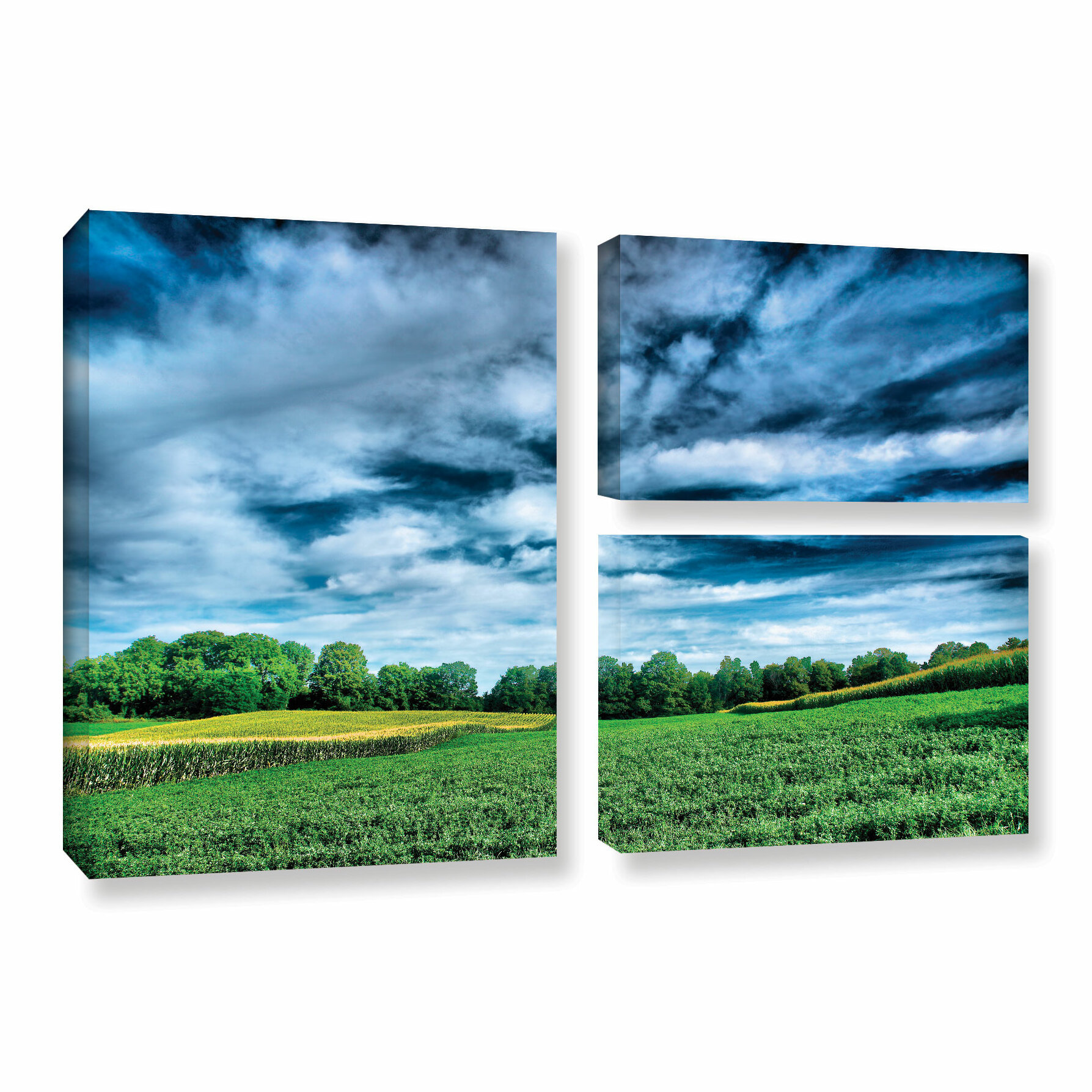 Artwall Field Of Dreams By Steve Ainsworth 3 Piece Photographic Print On Gallery Wrapped Canvas Set Wayfair