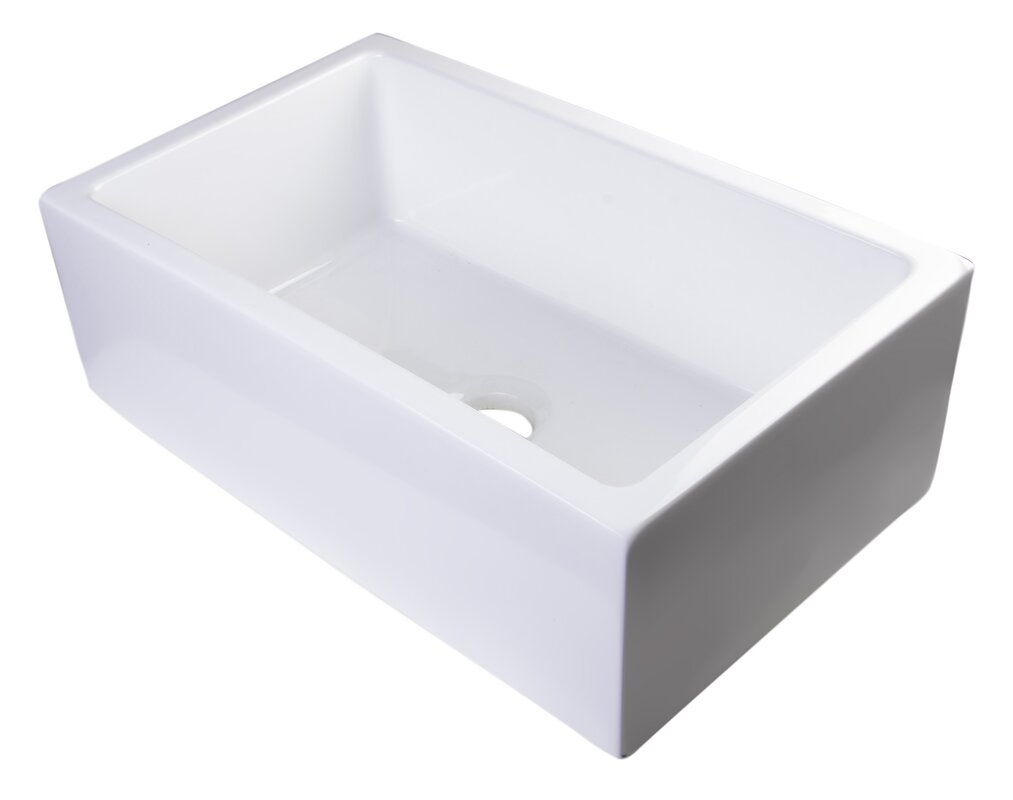 "30"" x 18"" Thick Wall Fireclay Single Bowl Farmhouse Kitchen Sink #farmsink #farmhousesink"