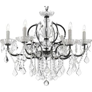 Clemence 6-Light Traditional Crystal Chandelier