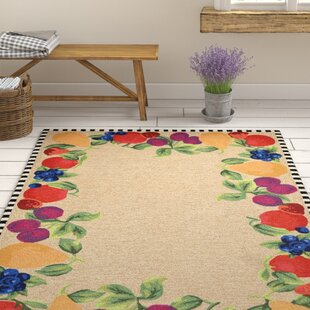 Calderon Fruits Hand-Tufted Beige/Green Indoor/Outdoor Area Rug