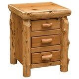Cedar 3 Drawer Nightstand by Fireside Lodge