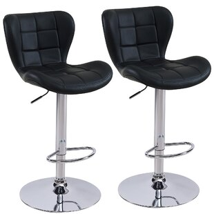Lexie Adjustable Faux Leather Stool (set of 2) Inexpensive