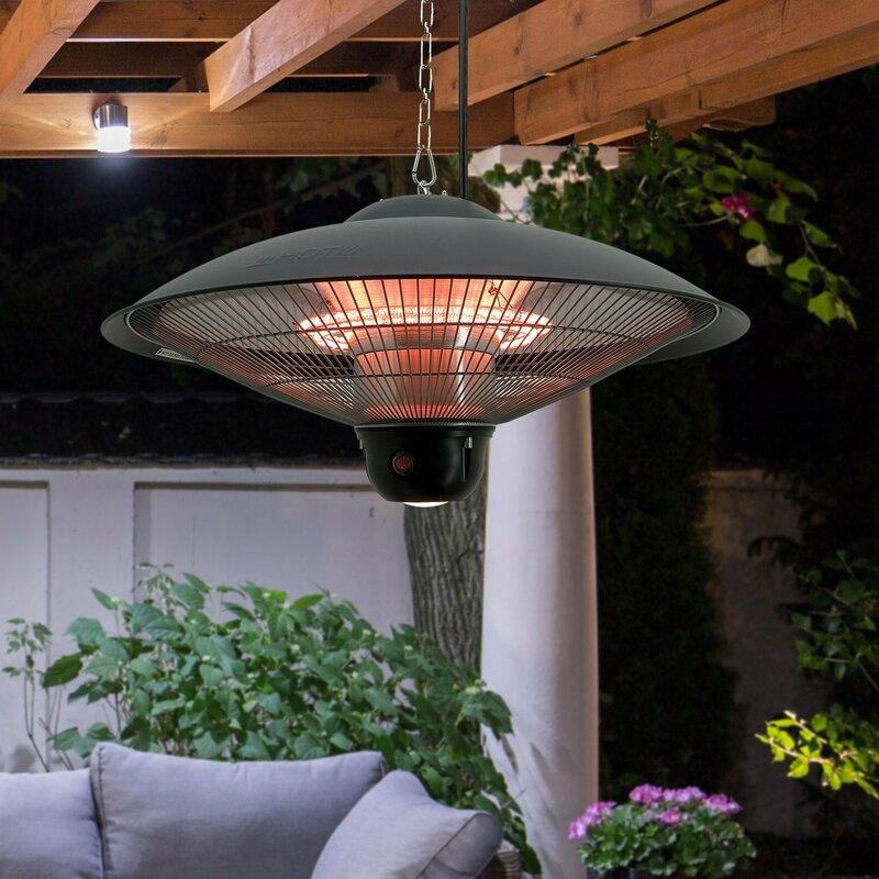 hanging patio heater. Ceiling 1500 Watt Electric Hanging Patio Heater
