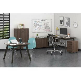 Holmes Executive 4 Piece L-Shape Desk Office Suite by Comm Office Best Choices