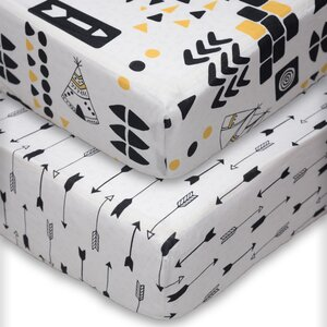 Aztec Fitted Crib Sheet (Pack of 2) (Set of 2)