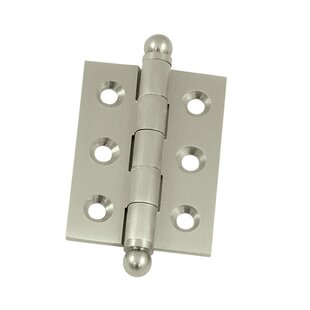2 H x 1.5 W Butt/Ball Bearing Single Door Mortise Hinge by Deltana