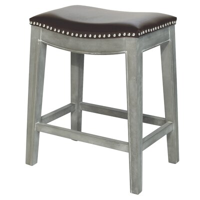 "Prendergast Bar & Counter Stool Lark Manor Upholstery: Brown, Color: Mystique Gray, Seat Height: Bar Stool (30"" Seat Height)"