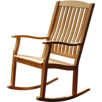 Astonishing Bayou Breeze Cynthia Porch Teak Rocking Chair Finish Natural Gmtry Best Dining Table And Chair Ideas Images Gmtryco