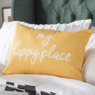 Bucareli My Happy Place Lumbar Pillow by Ebern Designs 2019 Sale