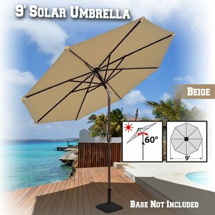 Kellswater Solar Light Outdoor 9' Market Umbrella