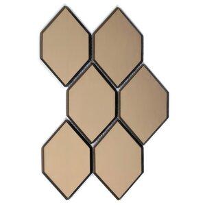 Echo Honeycomb Backsplash 3 5 X 5 125 Glass Mosaic Tile
