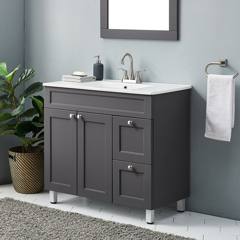 Latitude Run Aguilar Ninapaytan 36 Single Bathroom Vanity Set Reviews Wayfair