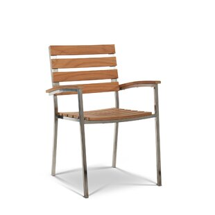 Pamala Stacking Teak Patio Dining Chair (Set of 2) By Orren Ellis