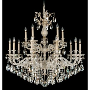 Milano 15-Light Candle-Style Chandelier