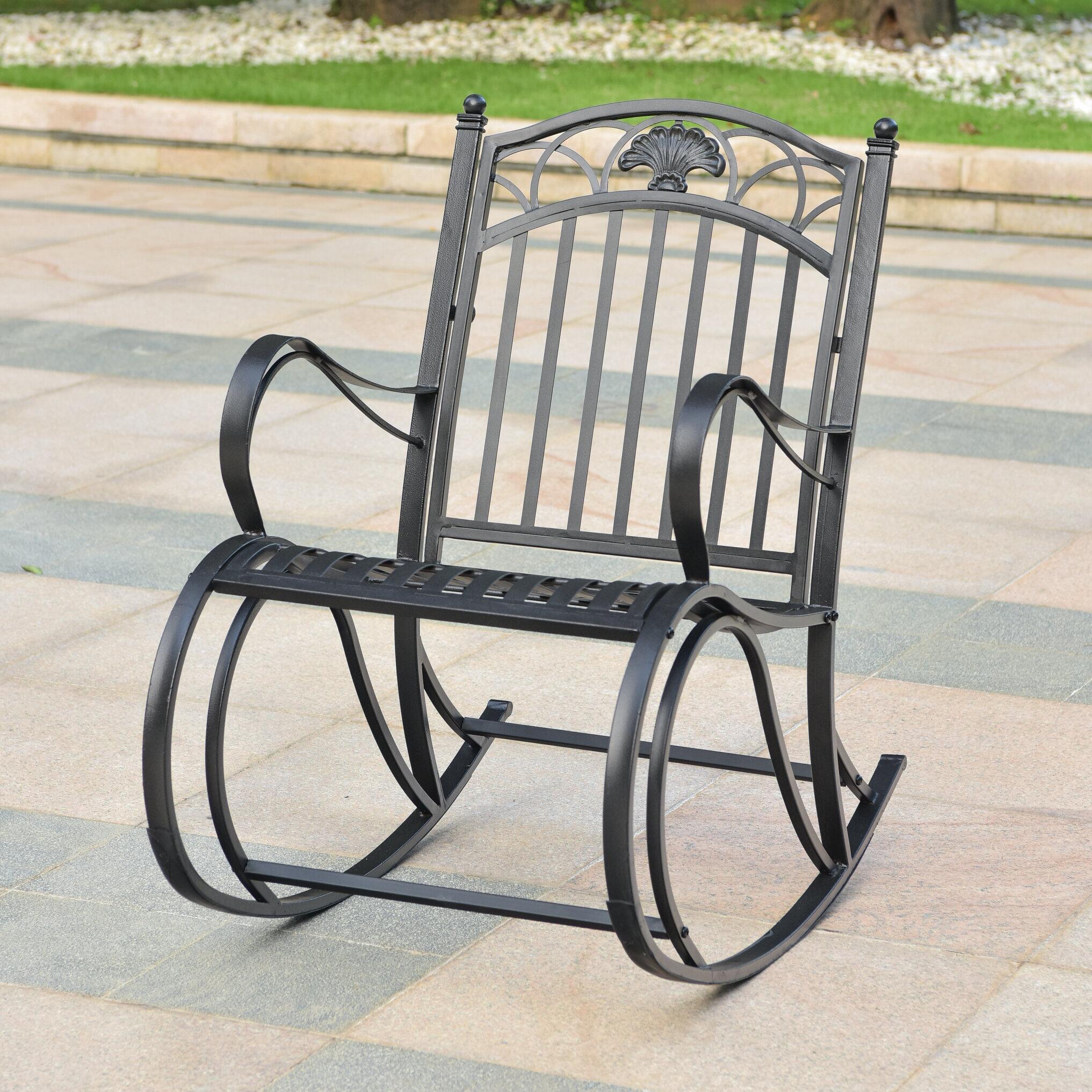 Oak Bluffs Iron Porch Rocking Chair