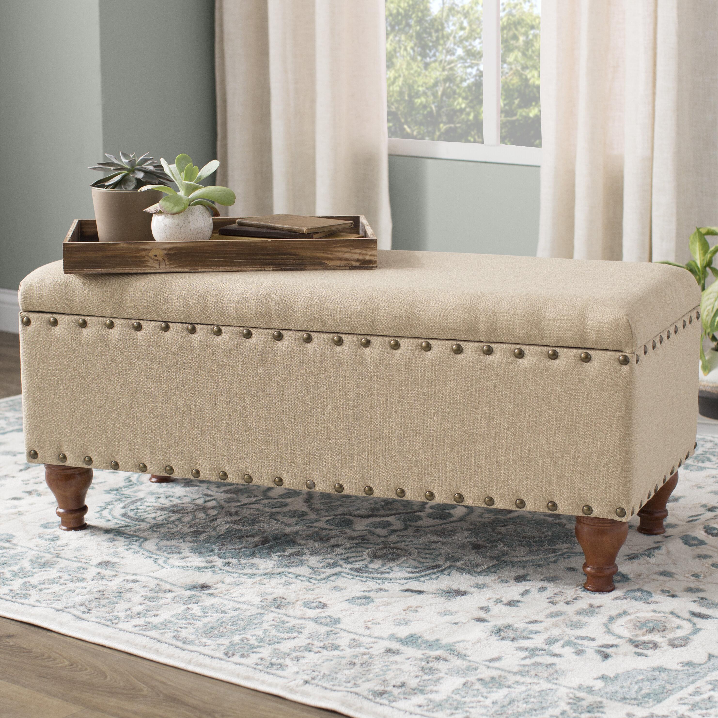 Three Posts™ Latimer Upholstered Flip Top Storage Bench & Reviews