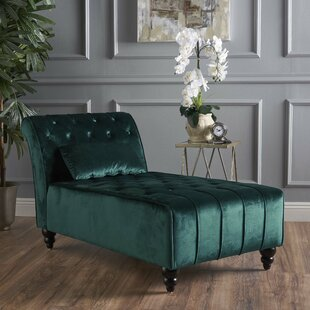 Best Price Andrews New Velvet Chaise Lounge by Mercer41 Reviews (2019) & Buyer's Guide