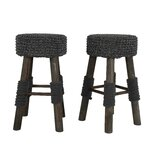 Frisbee Round Backless 23.25 Bar Stool (Set of 2) by Gracie Oaks