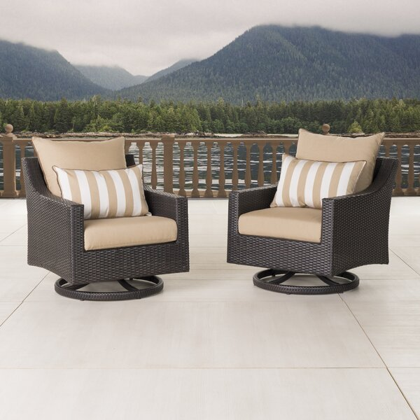 Three Posts Northridge 2 Piece Swivel Patio Chair With