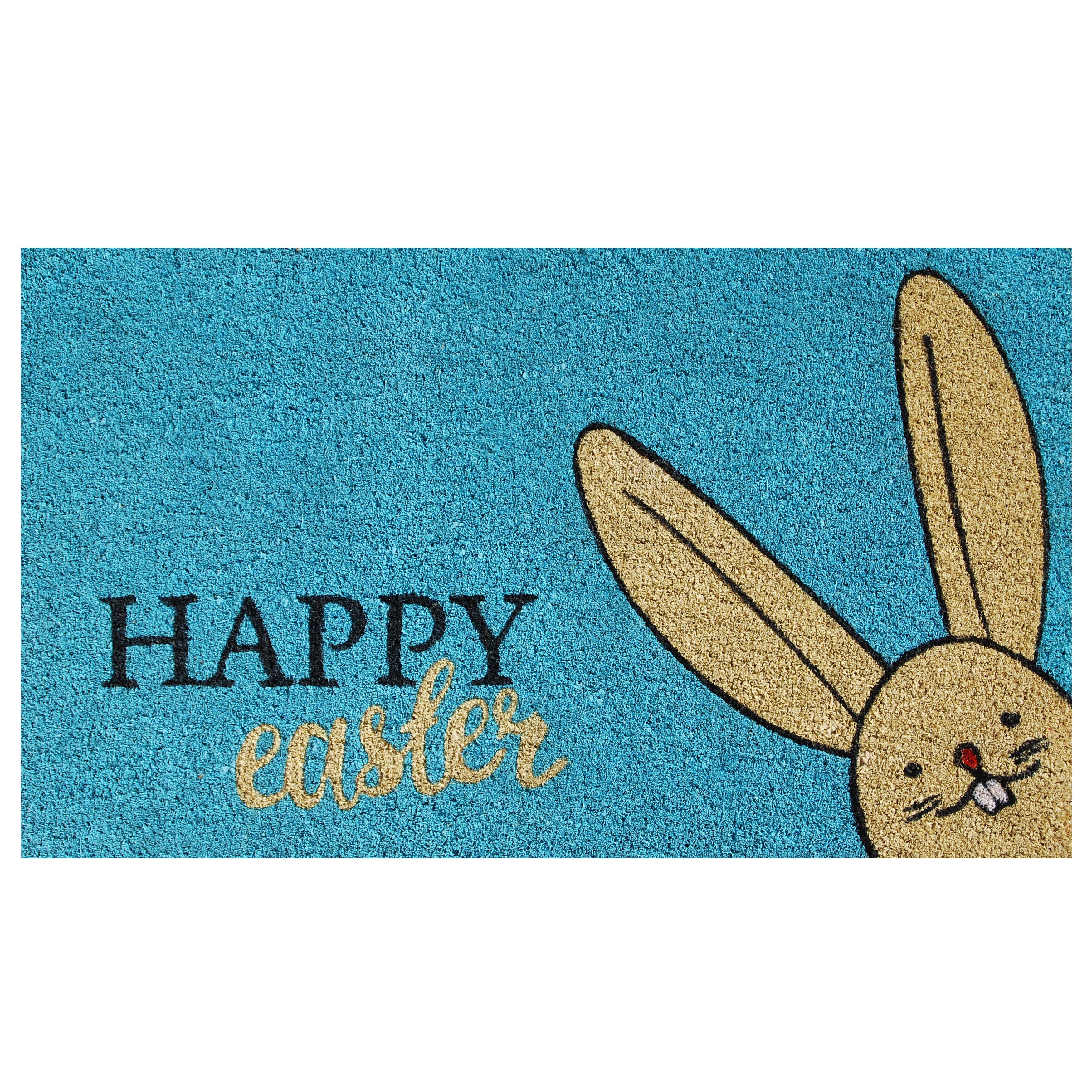 Easter Theme With Bunny and Egg Non-Slip Outdoor Indoor Front Door Mat bathroom