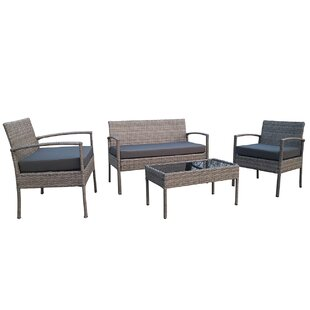 4 Piece Sofa Set with Cushions
