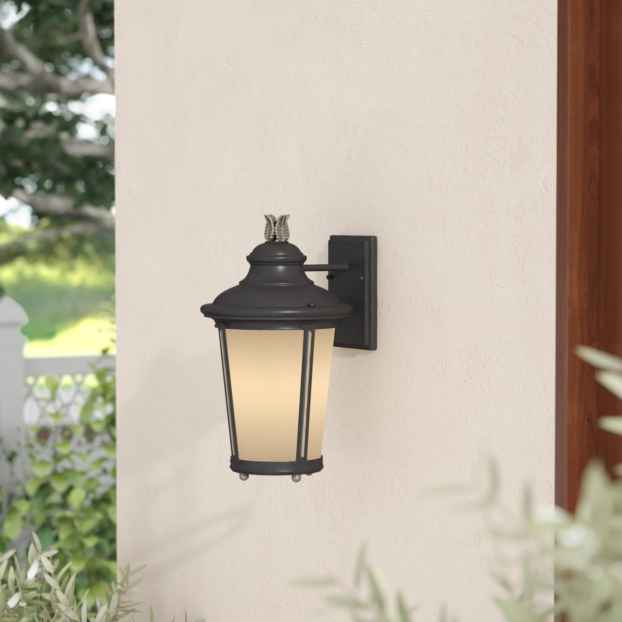 Fleur De Lis Living Maria 1 Light Outdoor Wall Lantern Wayfair