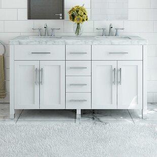 Grand Boardwalk 72 Double Bathroom Vanity Set by JWH Living