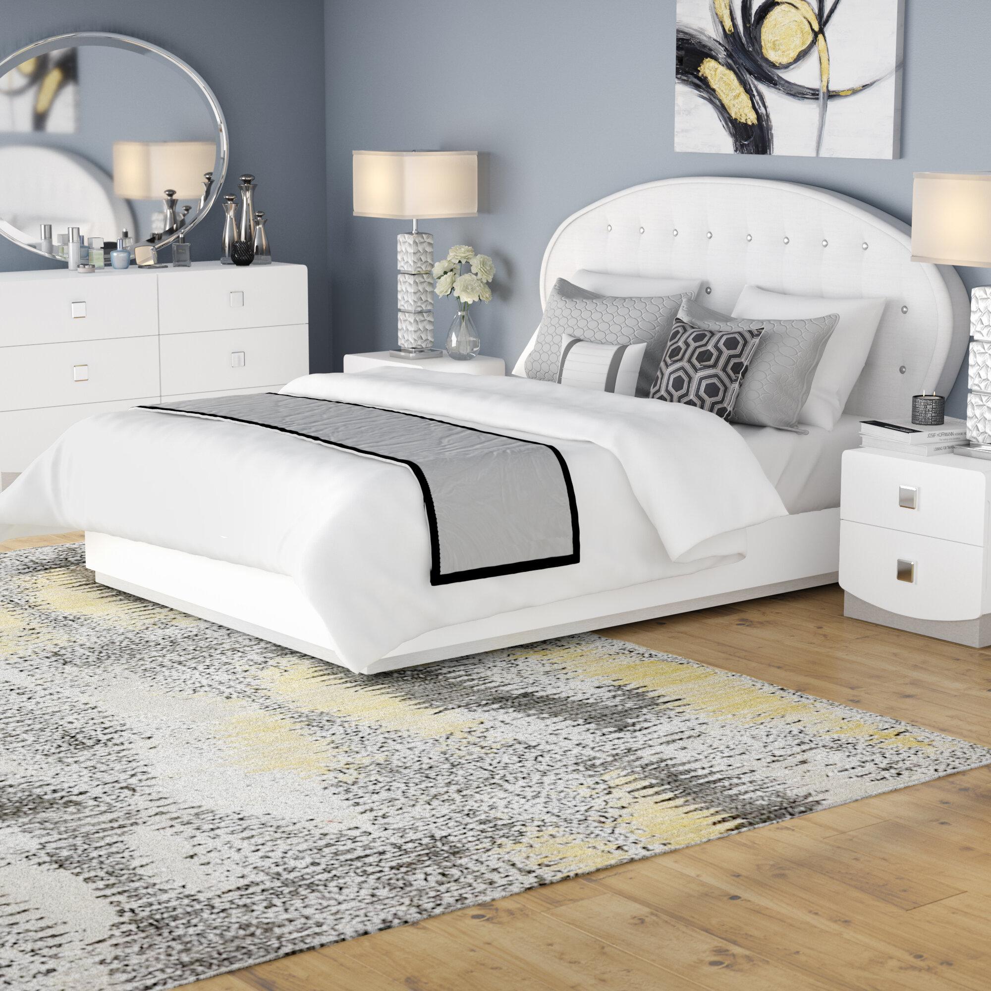 Orren Ellis Rachna Upholstered Platform 5 Piece Bedroom Set Reviews Wayfair