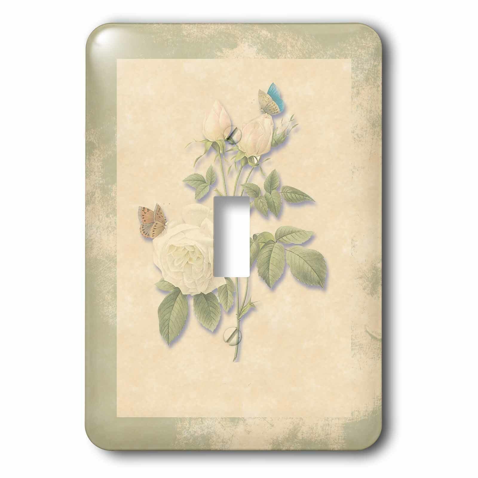 3drose Roses Butterflies 1 Gang Toggle Light Switch Wall Plate Wayfair