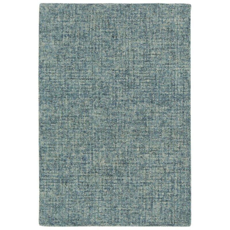 Wrought Studio Finkelstein Hand Tufted Wool Blue Area Rug Wayfair