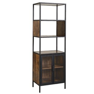 Nena Metal And Wood Display Stand With Glass Door