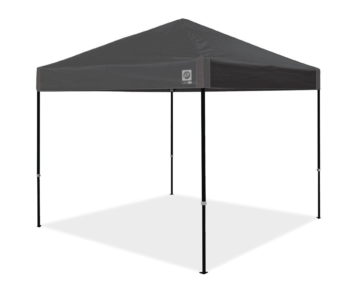 E Z Up Ambassador Instant Shelter 10 Ft W X 10 Ft D Metal Pop Up Canopy Reviews Wayfair
