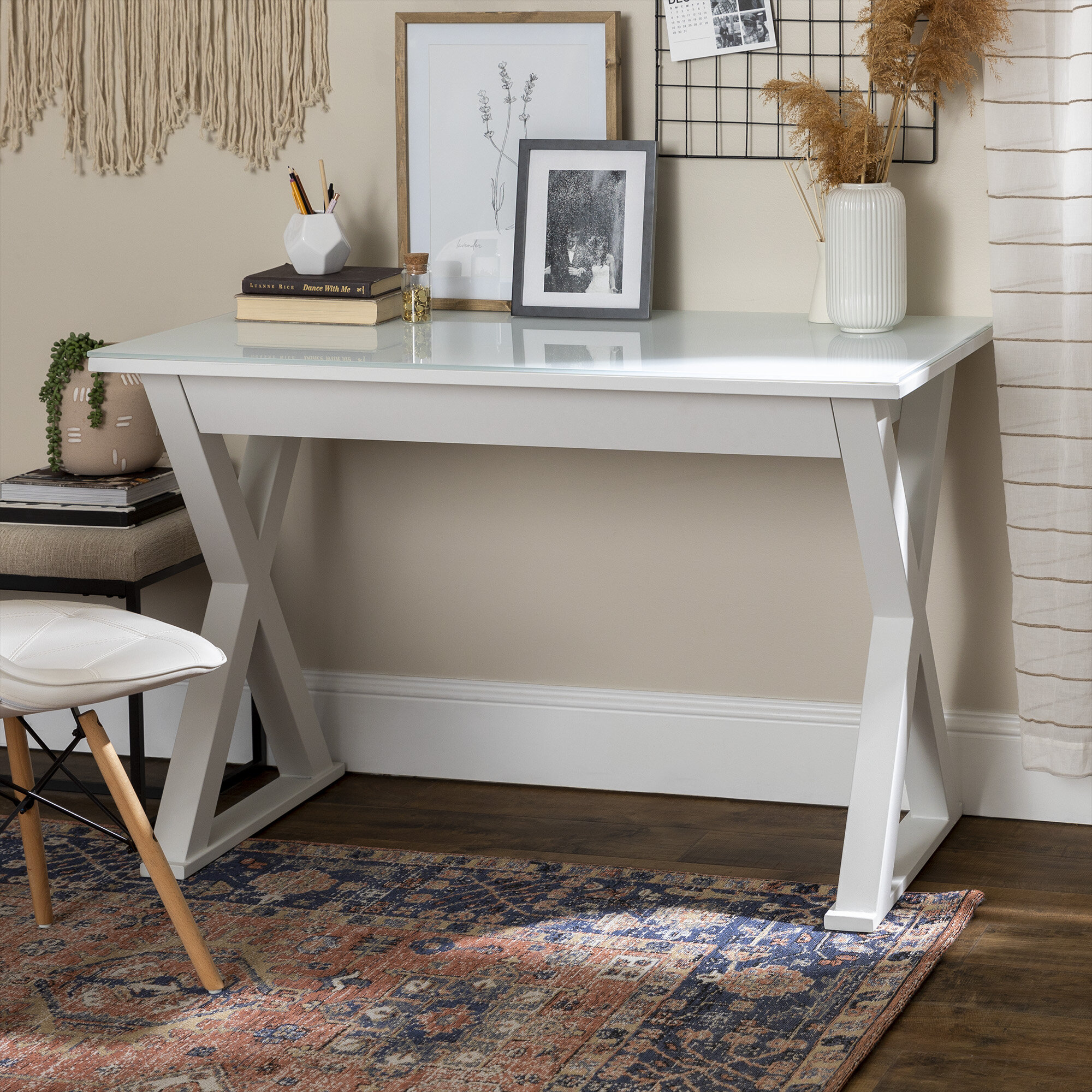 Glass Desks You Ll Love In 2020 Wayfair