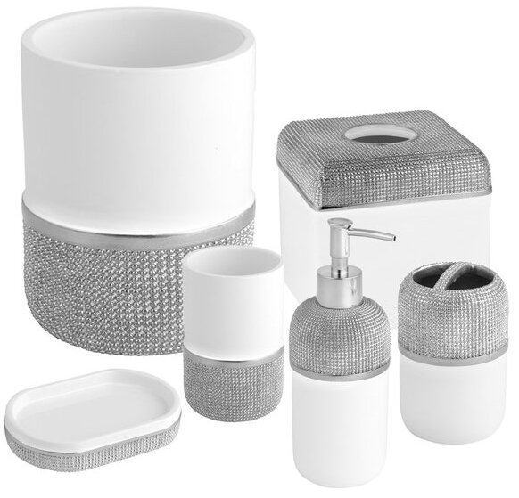 Ceramic 6 Piece Bathroom Accessory Set